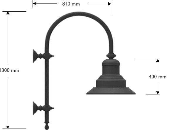 Mensola a muro con lanterna 622 LED 30W