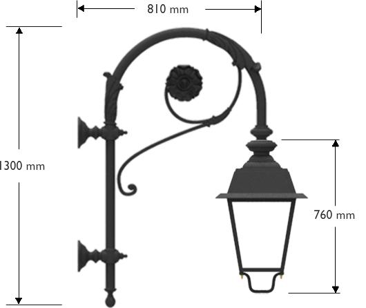 Pastorale artistico con lanterna LED