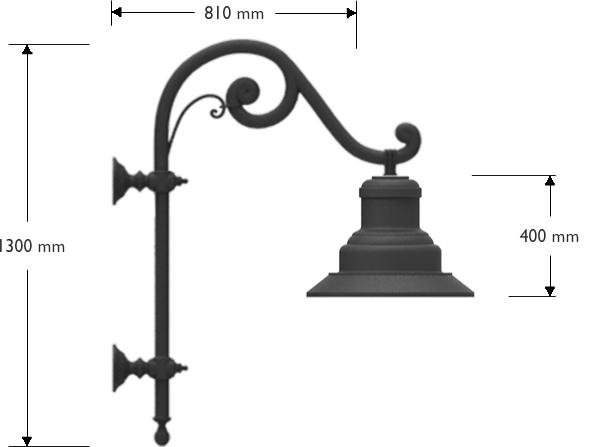 Pastorale Alberti a muro con lampara 622 cablata 30W