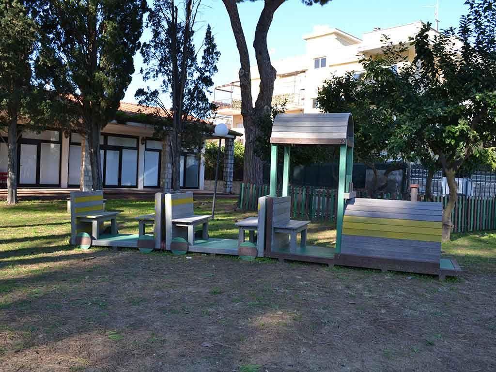 Trenino in Strongplast, installato presso il Comune di Terracina