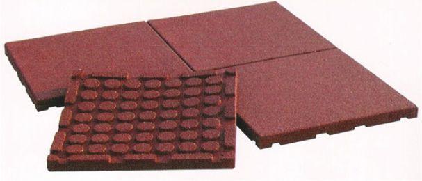 Pavimenti in gomma riciclata prezzi confortevole - Piastrelle gomma antitrauma ...