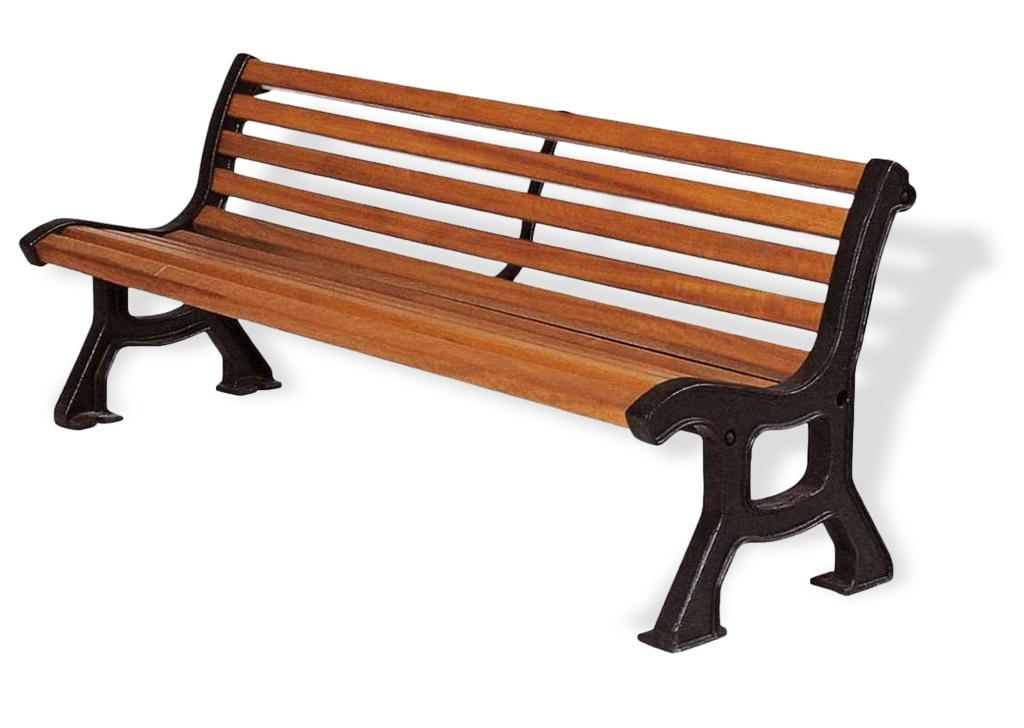 Panchina ITALIA con legno esotico Montata