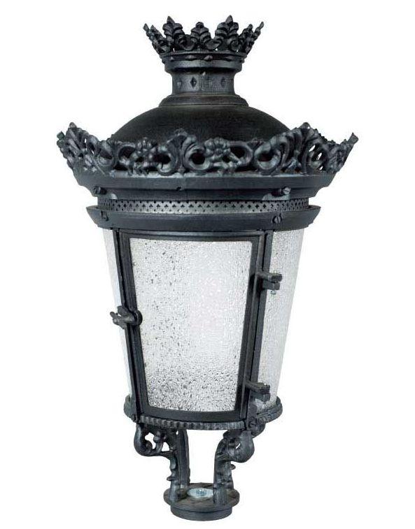 Lanterna artistica tipo imperiale grande con fregi ornamentali in alluminio