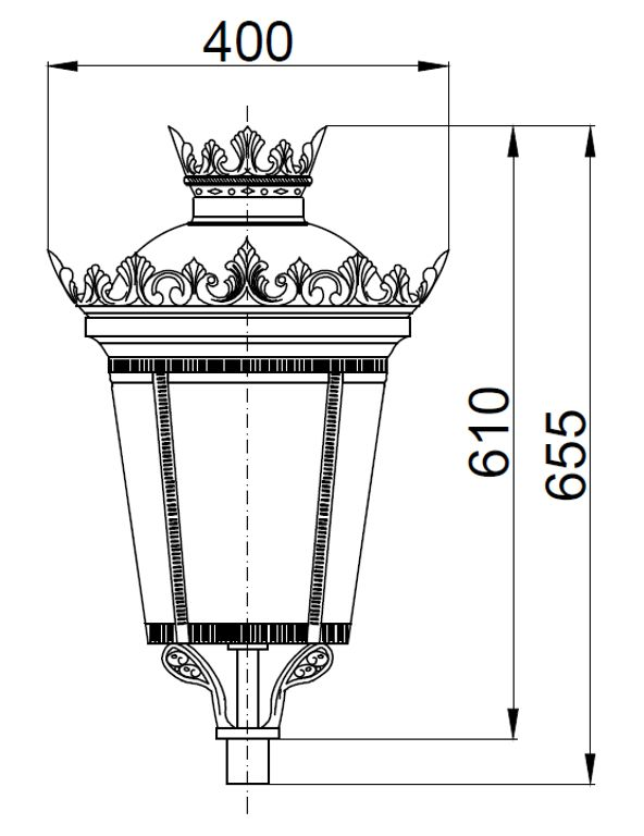 Lanterna artistica tipo imperiale media - 2D