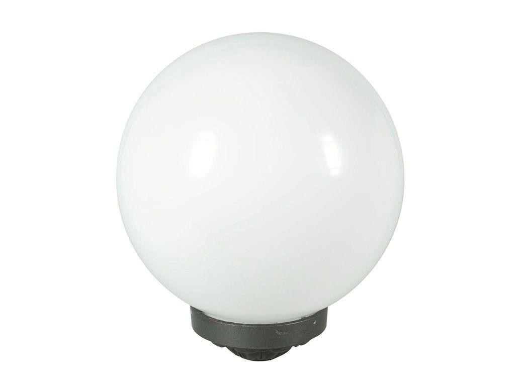 GLOBO per illuminazione in PMMA diam. 500 con porta globo in alluminio