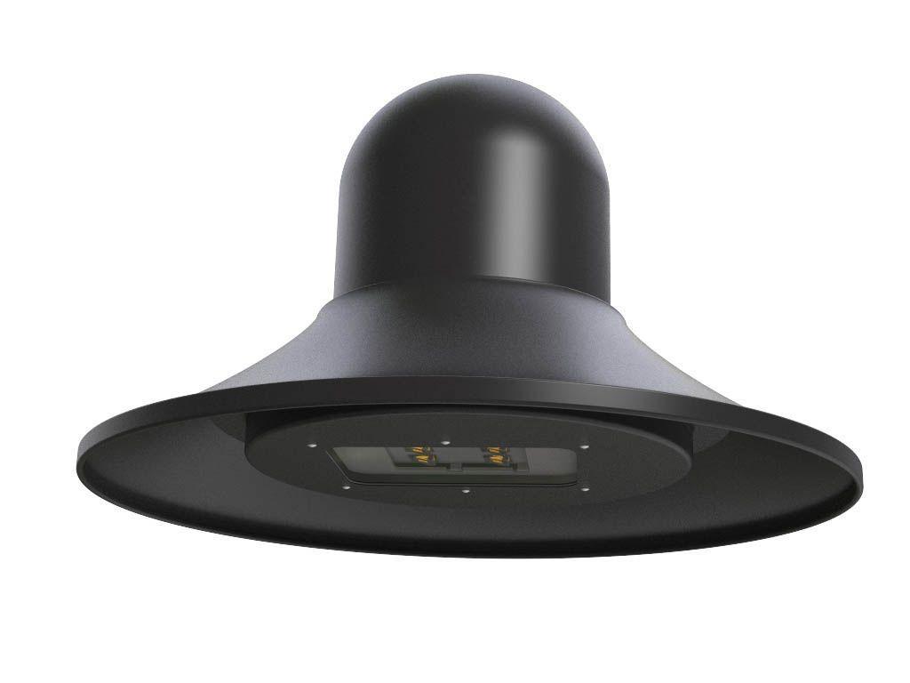 Lampara in tiratura a lastra di alluminio con ottica LED
