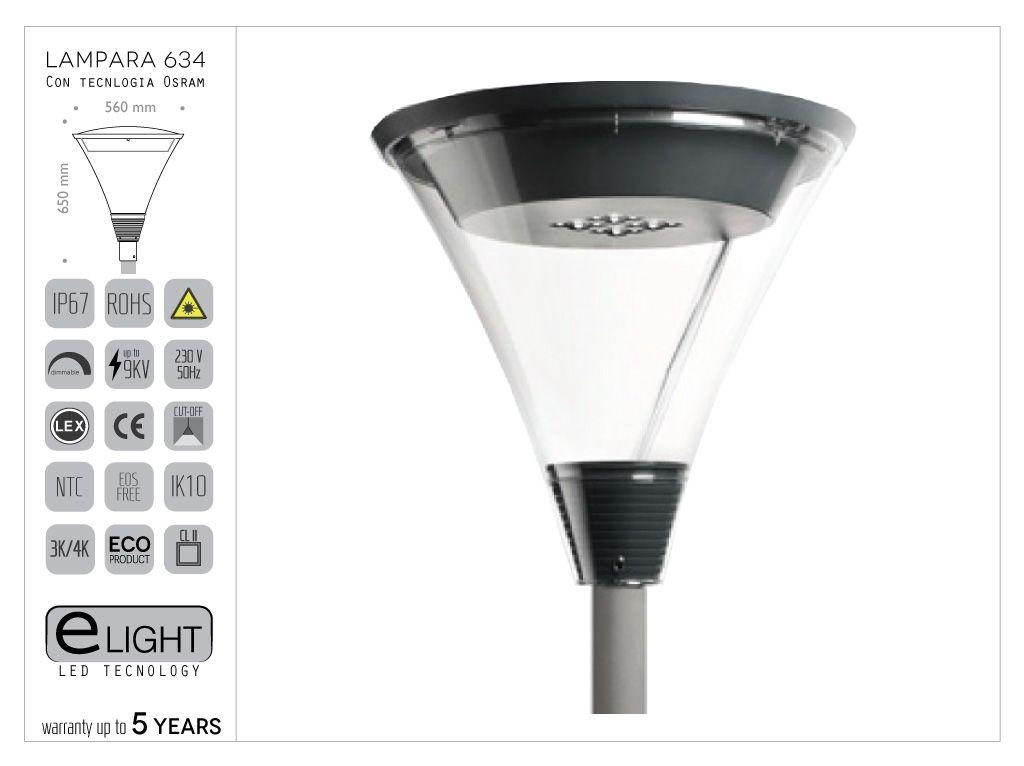 Lanterna 634 in pressofusione di alluminio con tecnologia OSRAM