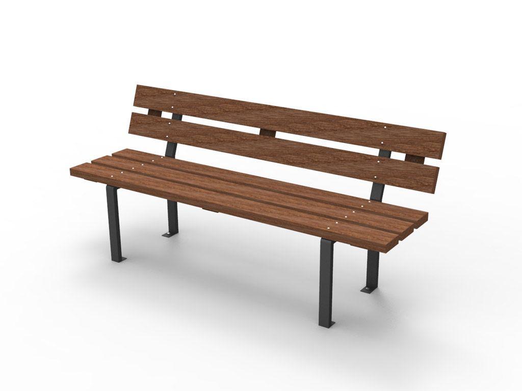 Panchina Valencia con listoni in legno Pino