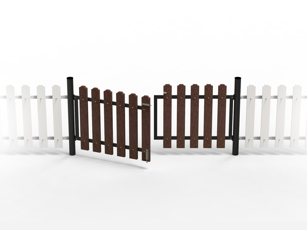 Strongplast Post-consumer recycled plastic classical fence