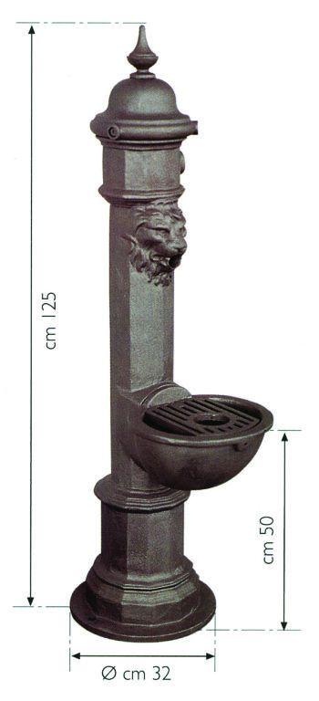 Fontana classica in ghisa tipo Napoli