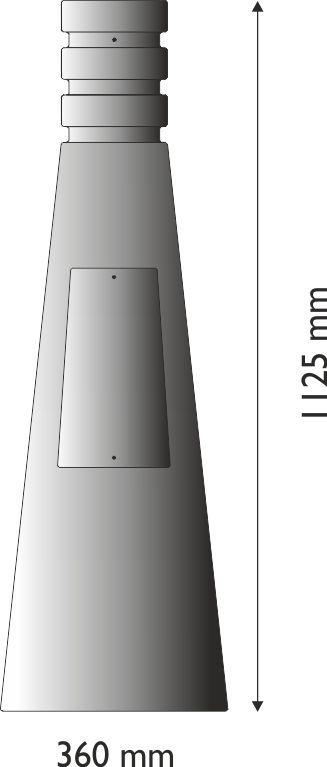 Base circolare grande moderna in ghisa UNI EN 1561 GJL250 per pali in acciaio.