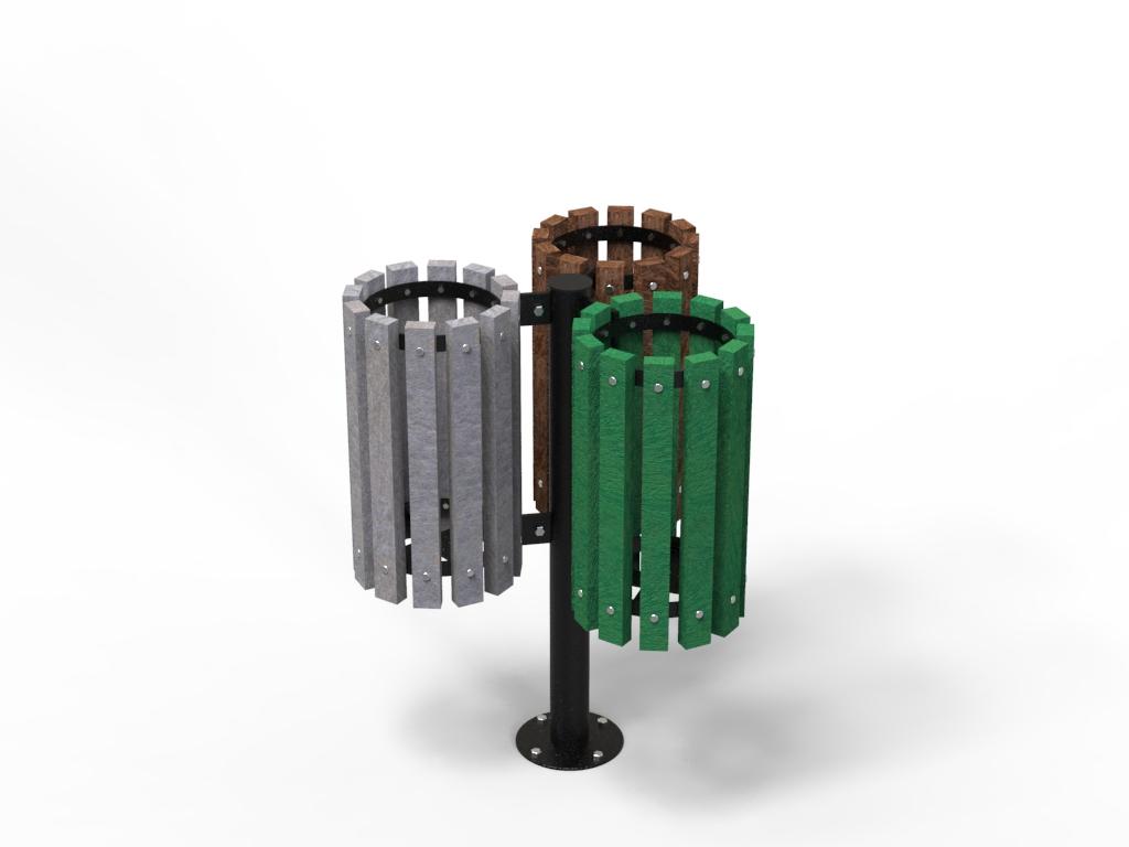 Cestino porta rifiuti in STRONGPLAST o legno