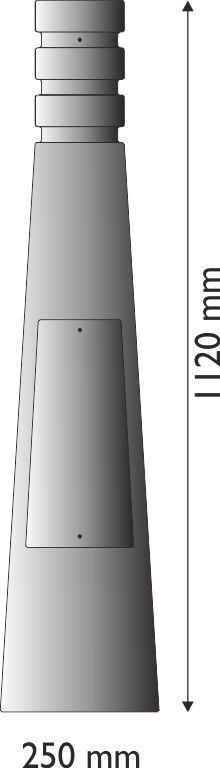 Base in ghisa UNI EN 1561 GJL250 per pali in acciaio circolare media stile moderno.