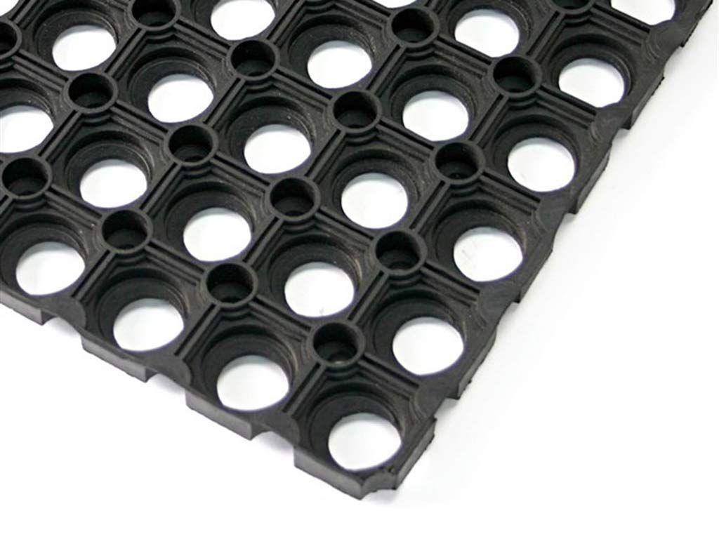Pavimentazione antitrauma in gomma riciclata alveolare