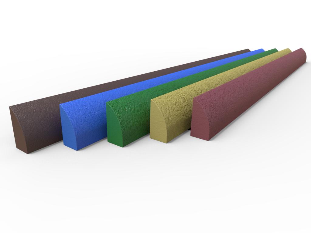 Profilo Cordolo Stradale 3600 mm in plastica riciclata Strongplast