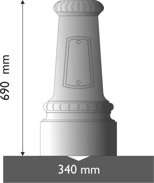 Base in ghisa UNI EN 1561 GJL250 circolare piccola