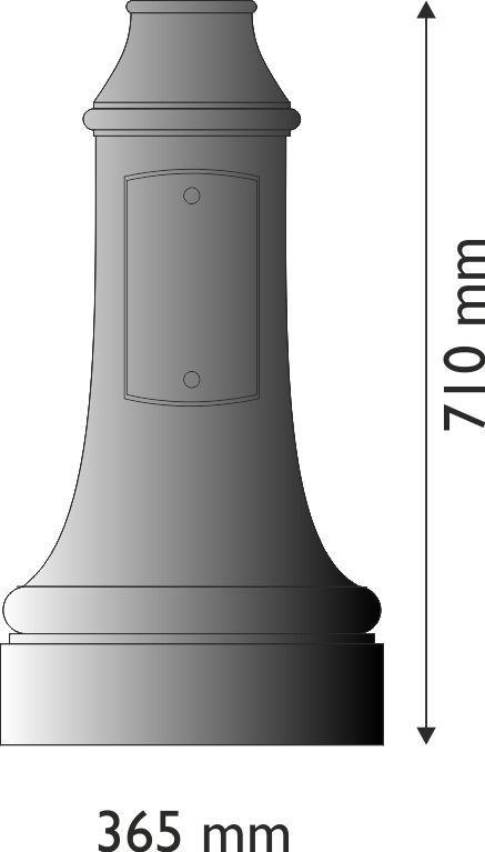 Base in ghisa UNI EN 1561 GJL250 per pali in acciaio circolare piccola