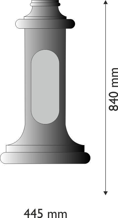 Base in ghisa o alluminio ciorcolare piccola