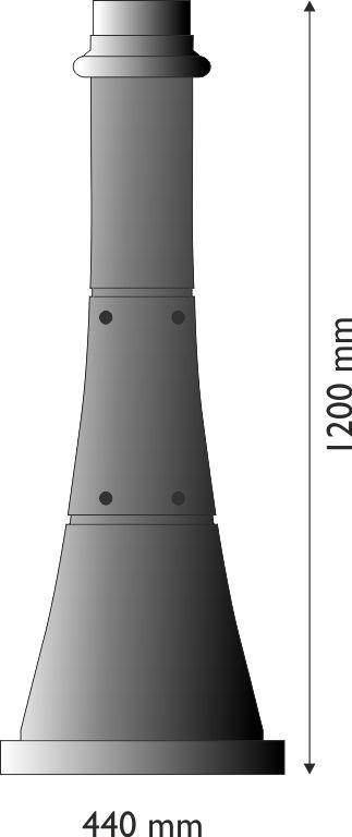 Base in ghisa UNI EN 1561 GJL250 o alluminio per pali in acciaio circolare piccola stile moderno