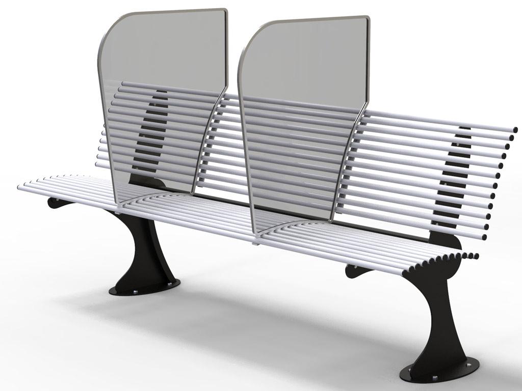 Panchina SHARK in acciaio
