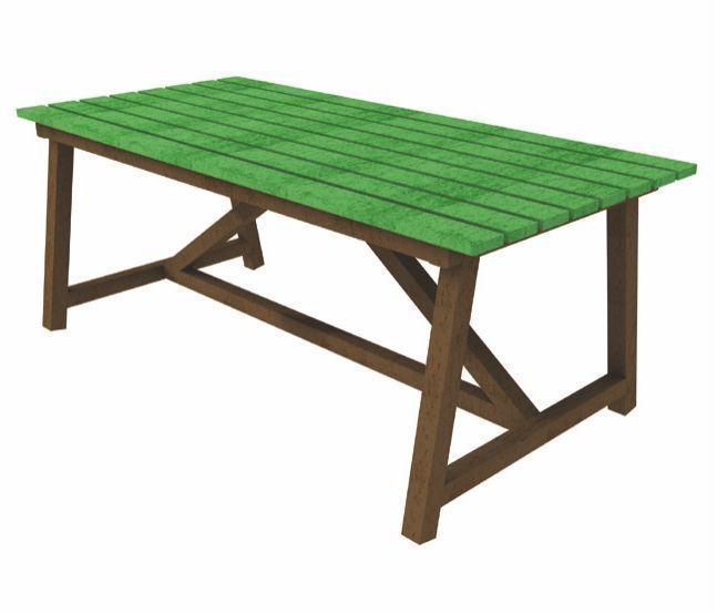Tavolo rettangolare in STRONGPLAST - plastica riciclata post consumo