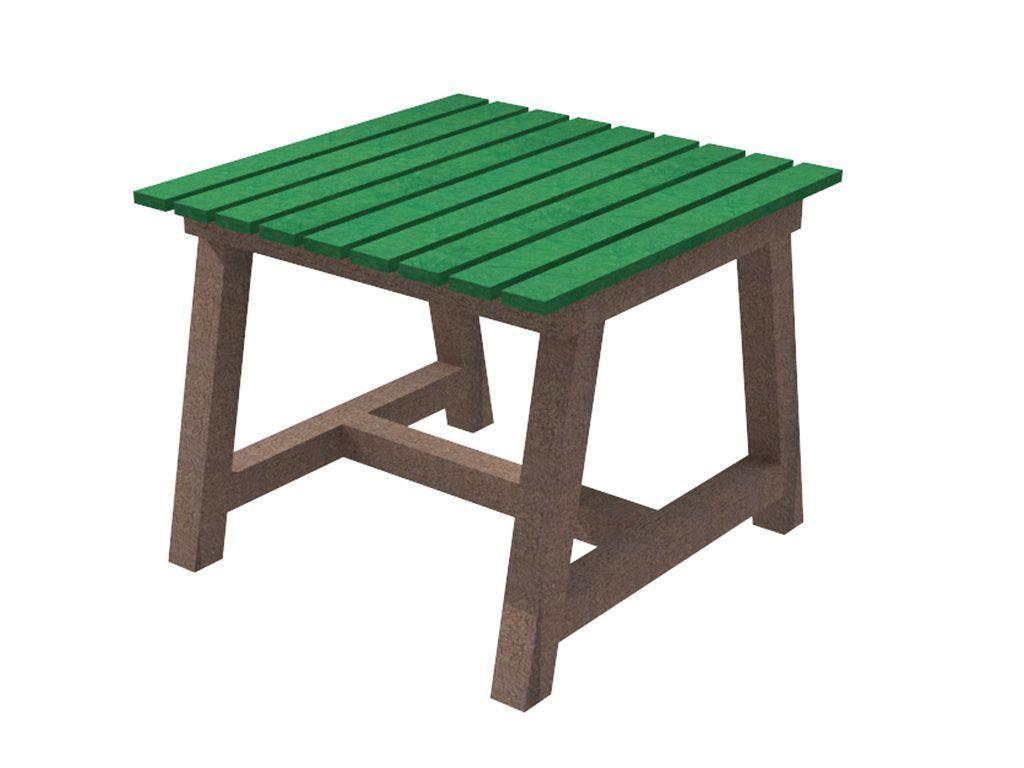 Tavolo quadrato in STRONGPLAST - plastica riciclata post consumo