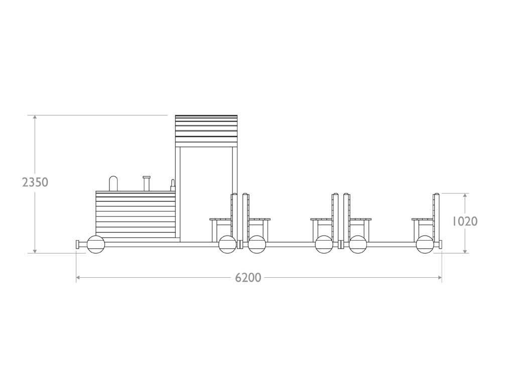 Trenino in Strongplast - prospetto