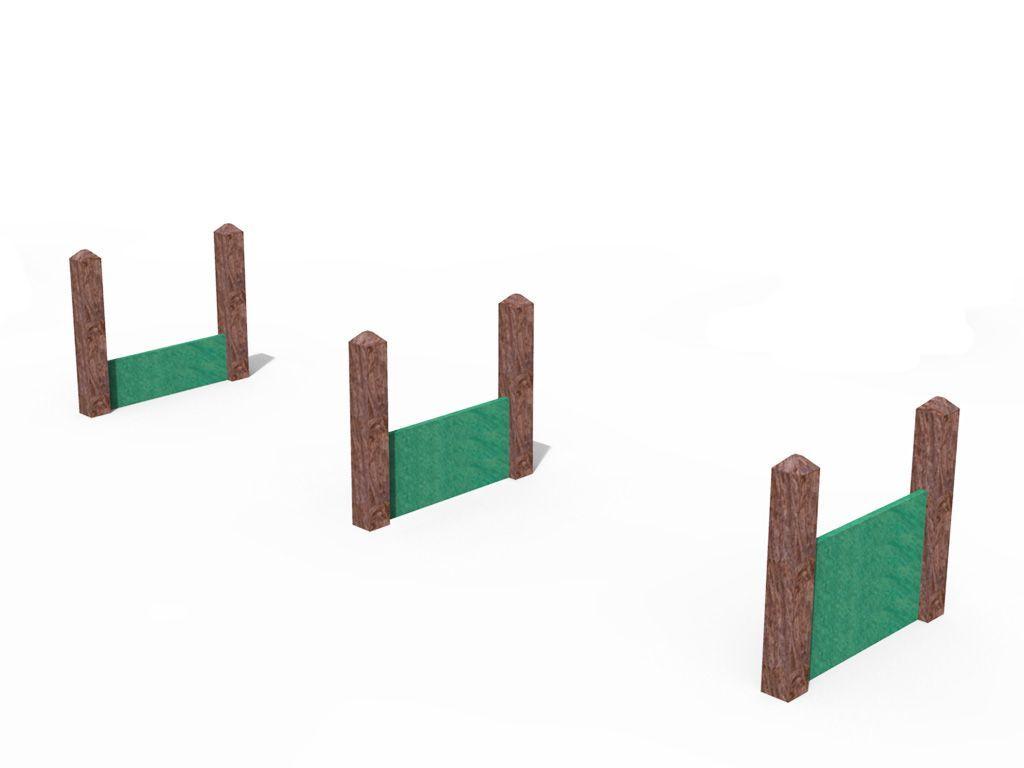 Agility Dog Ostacoli diverse altezze in STRONGPLAST - plastica riciclata post consumo