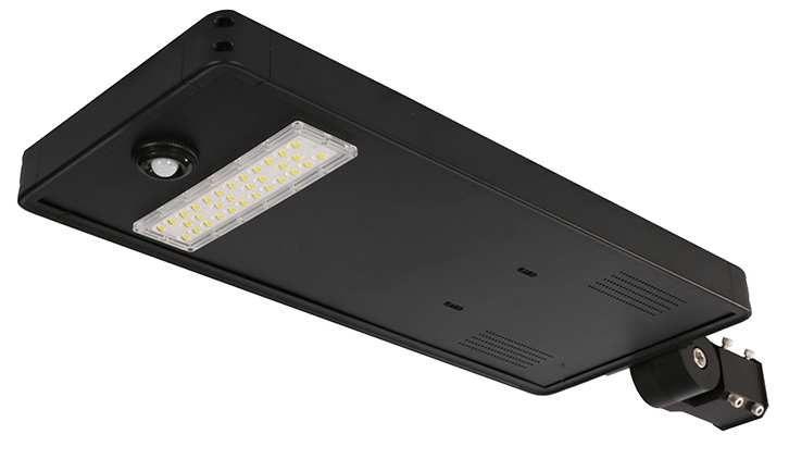 Sist.Pann.Solare+LED strada-III 30W 5400 Lm 5000K iP65 +batteria-Lt 1295x374x82mm