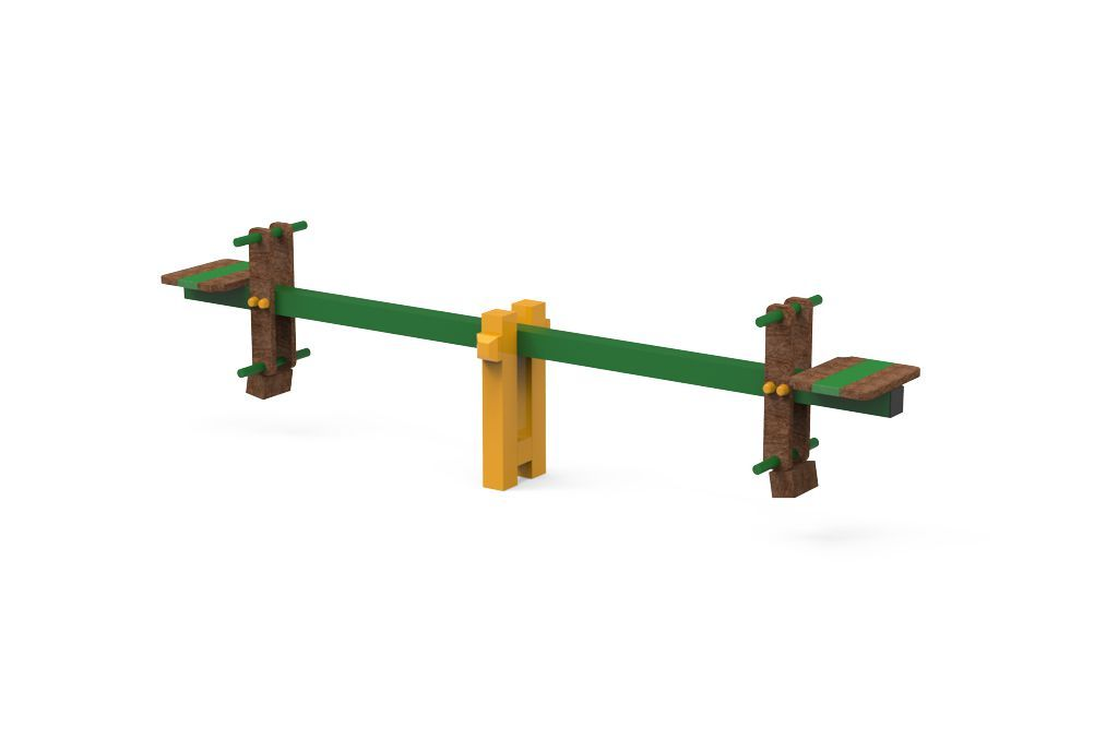 Teeter totter in Steel and Strongplast Post-consumer recycled plastic