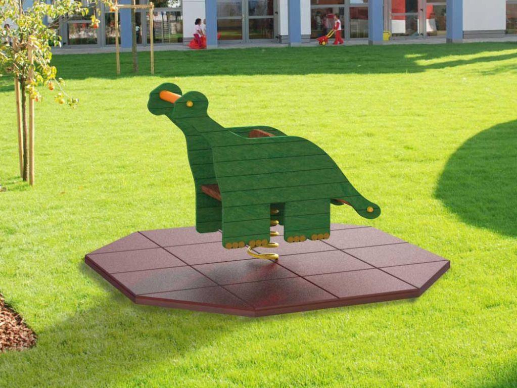 BRONTOSAURO gioco a molla in STRONGPLAST - plastica riciclata post consumo