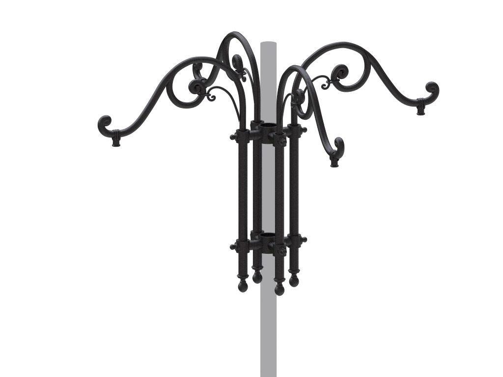 Cima a pastorale quadruplo con doppio riccio ornamentale tipo Alberti