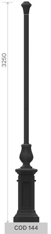 Palo in fusione di ghisa UNI EN 1561 GJL250 con base ottagonale media