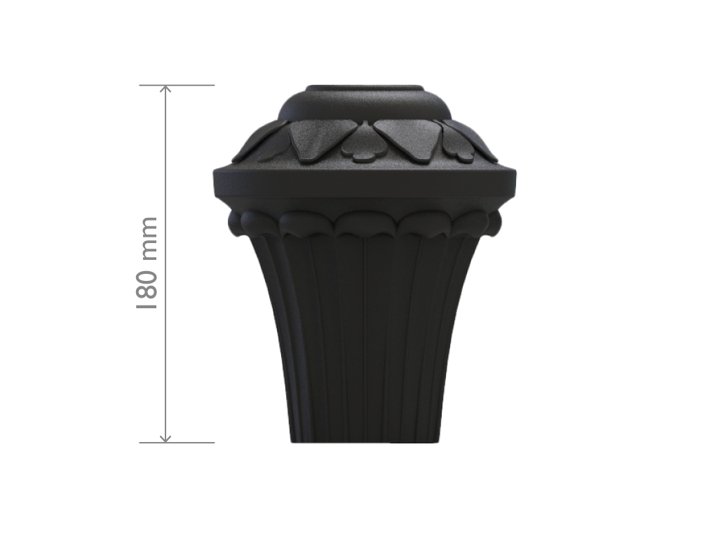 UNI EN 1561 GJL250 cast iron pole top