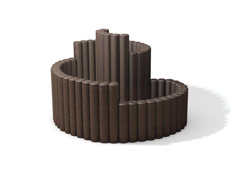 Fioriera a spirale in STRONGPLAST - plastica riciclata post consumo