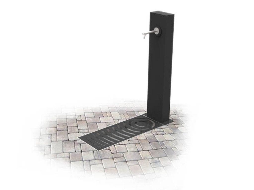 Fontana moderna in acciaio tipo Dublino