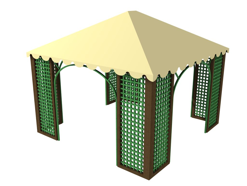 Gazebo in STRONGPLAST - plastica riciclata post consumo
