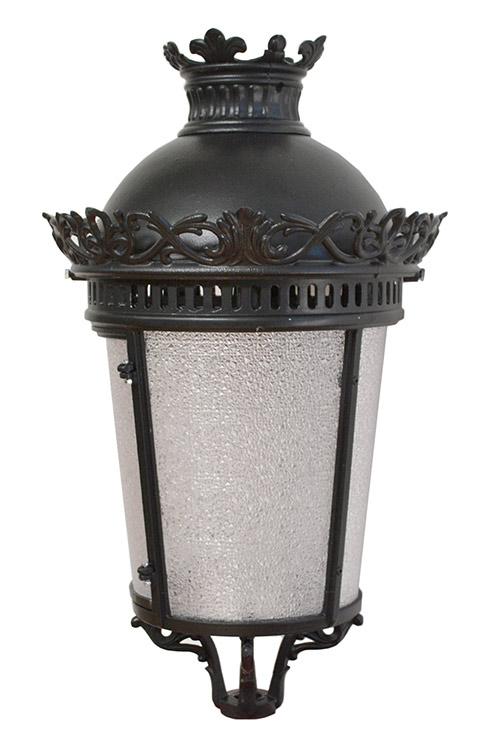 Lanterna artistica tipo imperiale media con fregi ornamentali in alluminio