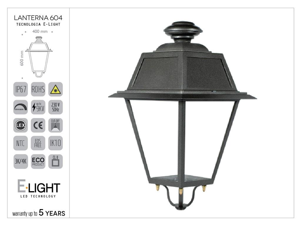 Lanterna 604 in pressofusione di alluminio con tecnologia OSRAM