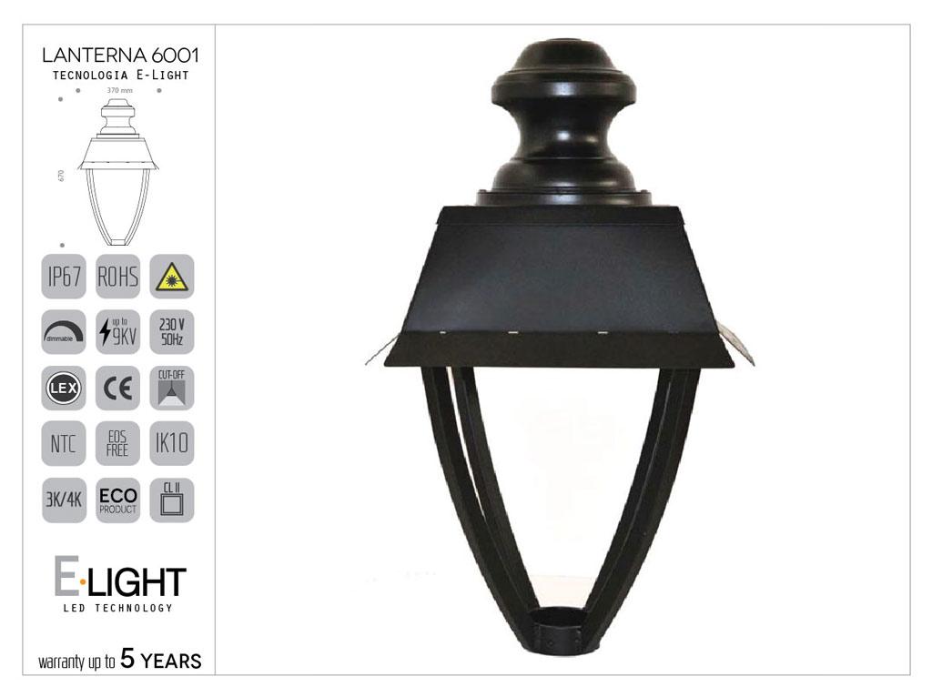 Lanterna artistica in alluminio stile moderno