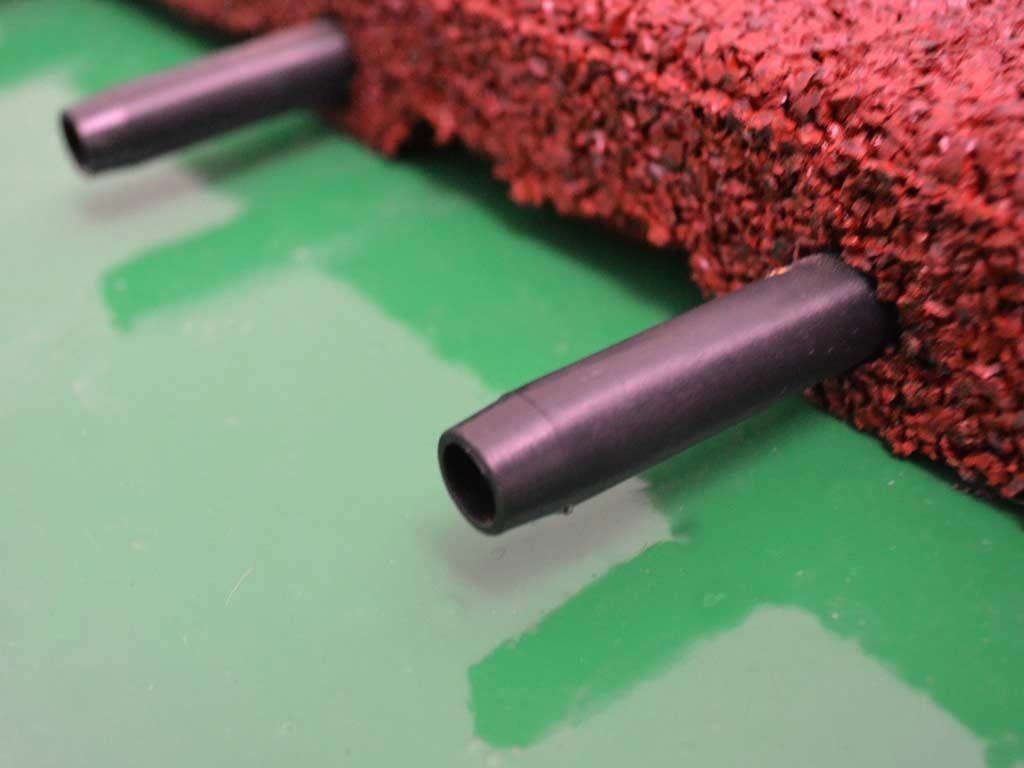 Pavimentazione antitrauma in gomma riciclata rossa h cm