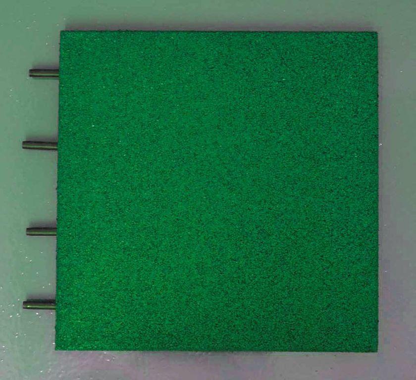 Pavimentazione antitrauma in gomma riciclata verde - h 5 cm
