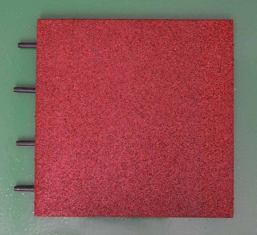 Anti-shock, interlocking recycled plastic tiles