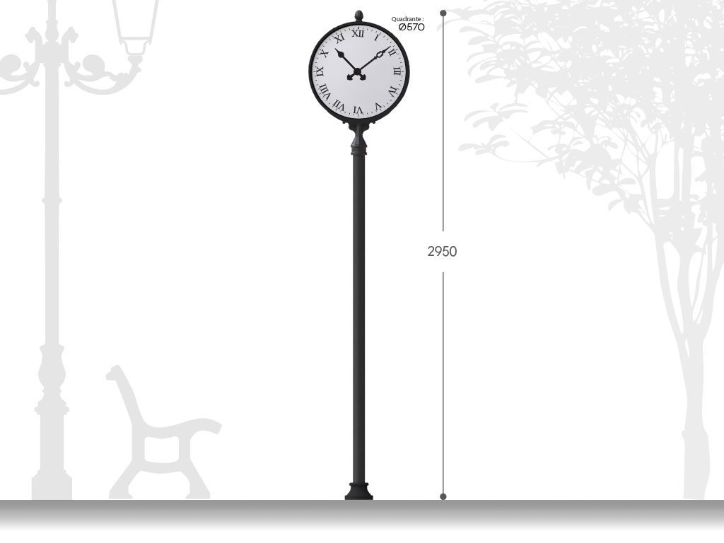 Classical post with clock