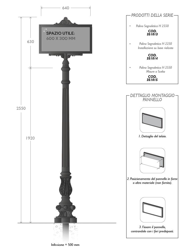 Scheda Tecnica Palina Segnaletica 351014