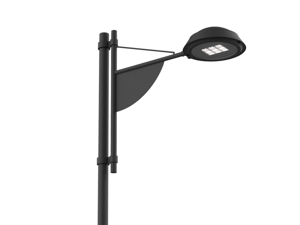 Palo SKY LED a un braccio per rotatorie