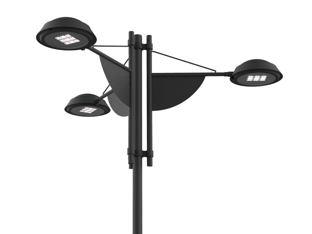 Palo SKY LED a tre bracci per rotatorie