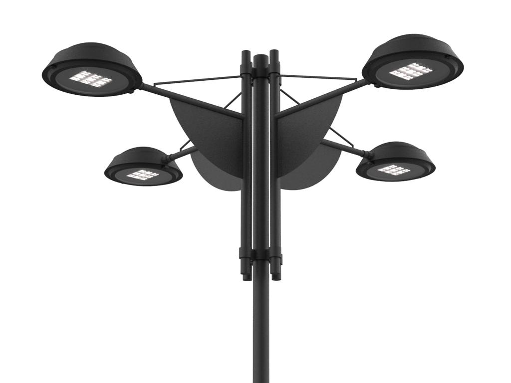 Palo SKY LED a quattro bracci per rotatorie