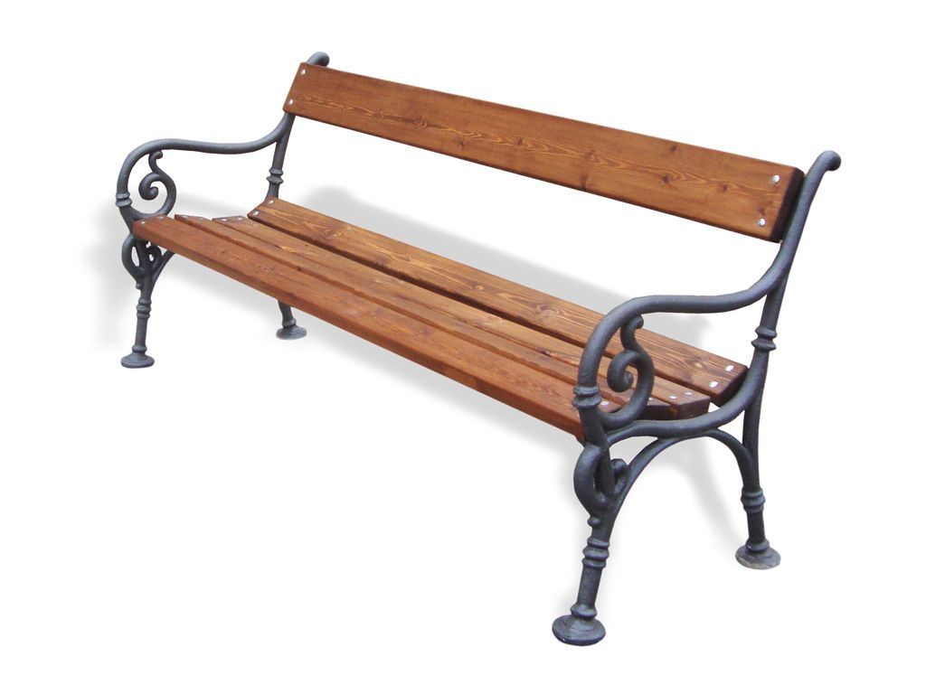 Panchina Vienna con listoni in legno Pino smontata