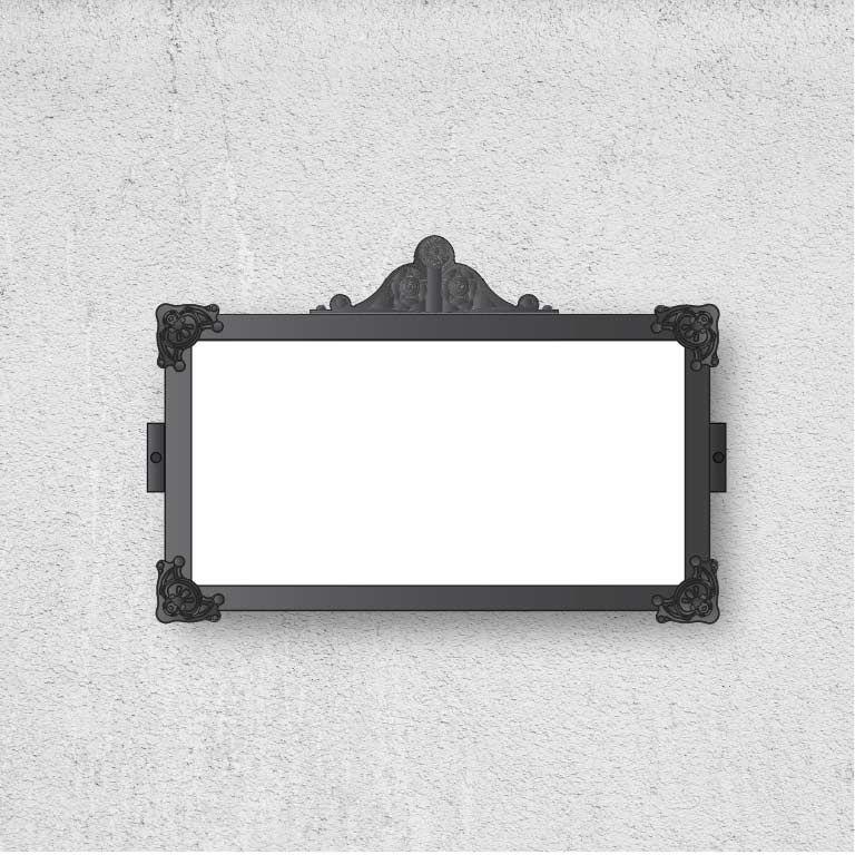 Pannello informativo artistico per inserimento lastra di marmo - misure 600 x 300 mm
